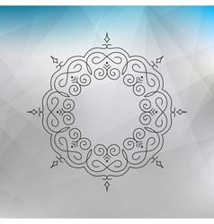 Vintage Swirl Ornament Decoration Elegant Element vector