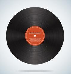 Vinyl disk realistic design eps 10 vector