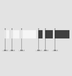 white flag clear template clean blank expo banner vector image