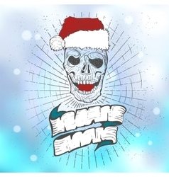 xmass tattoo skull vector image