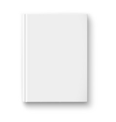 Blank book template with soft shadows vector image vector image