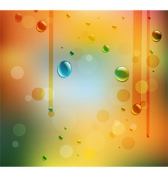 Colored autumn Water Drops vector image