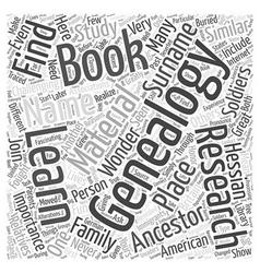 genealogy book Word Cloud Concept vector image vector image