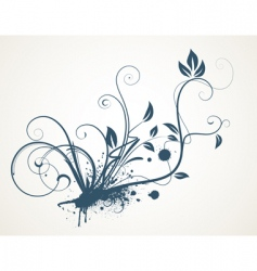 grunge scroll vector image vector image