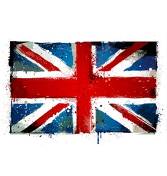 Grungy UK flag vector image