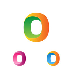 letter o logo template logotype set trendy vector image vector image