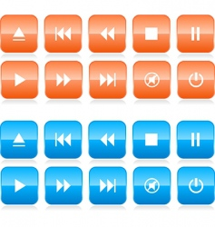media player button set vector image vector image