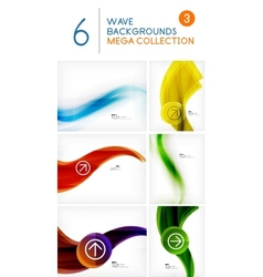 Mega set of wave abstract backgrounds vector image