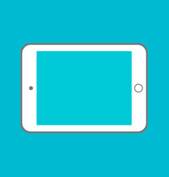 tablet computer with blank screen using digital vector image