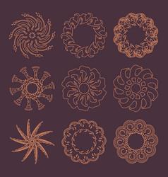 decorative design elements patterns set vector image