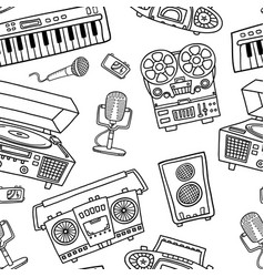 decorative graphic musical seamless pattern vector image