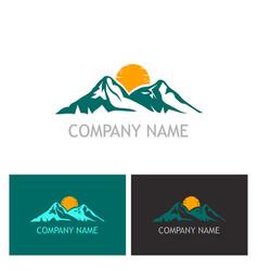mountain nature logo vector image