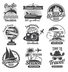 vintage travel logo set vector image