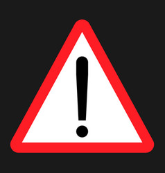 warning hazard sign flat icon vector image