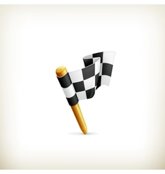 Checkered flag icon vector image vector image