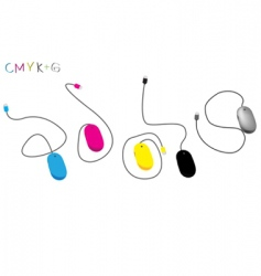 CMYK mouse vector image vector image