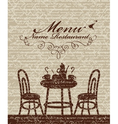 Cover for a menu vector image