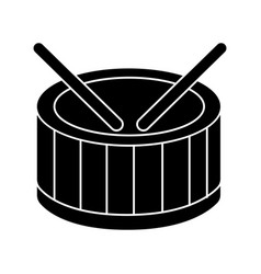 drums icon black sign on vector image vector image