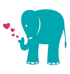 image of an elephant and heart vector image vector image