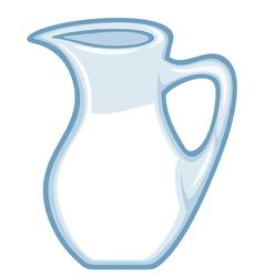 jug of milk vector image vector image