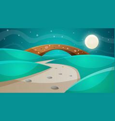 night bridge - cartoon vector image vector image