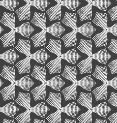 Gray dotted trefoil flower vector image vector image
