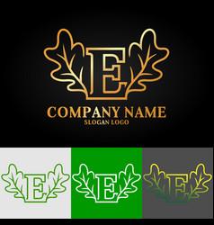 02 oak letter e vector image