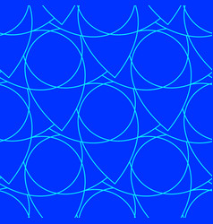 abstract seamless pattern on the blue background vector image