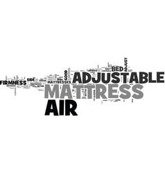 Adjustable air mattress high tech slumber text vector