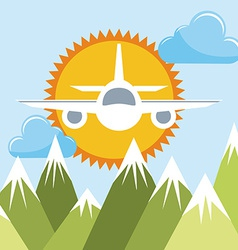 airplane flying vector image