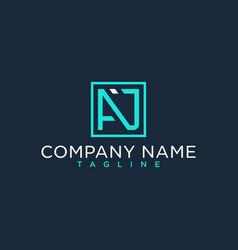Aj ja initial logo luxury design inspiration vector