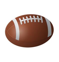american football ball - modern realistic vector image