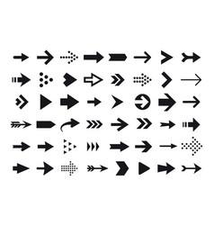 Arrow icons arrow cursor isolated on white vector