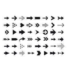 Arrow icons cursor isolated on white vector