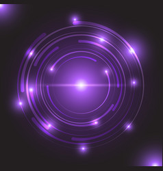 beautiful purple glowing circle light vector image