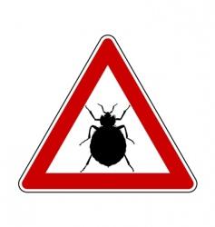 bedbug warning sign vector image