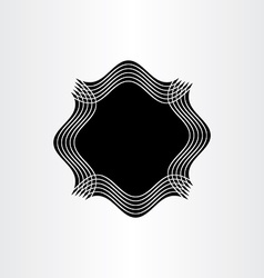 black frame text box element background design vector image