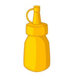 Bottle of mustard icon cartoon style vector