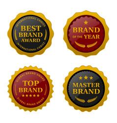 brand award labels set images vector image
