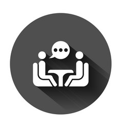 Business consulting icon in flat style two people vector