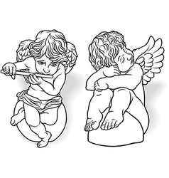 Cherub Set vector image