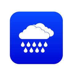 cloud and rain icon digital blue vector image