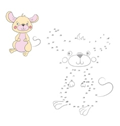 Connect the dots game mouse vector