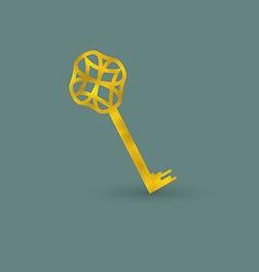 Delicate Golden Key vector image