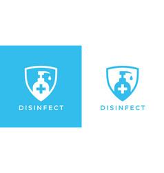 disinfect medical shield logo sign vector image
