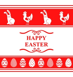 easter ornament red vector image