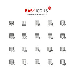 Easy icons 23a database vector