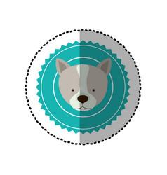 Emblem dog hunter city icon vector
