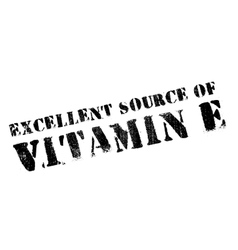 Excellent source of vitamin E stamp vector image