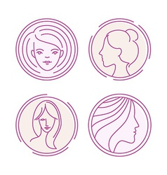 female logos vector image